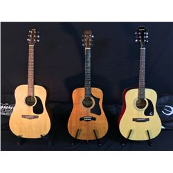 3 GUITARS: TRADITION ACOUSTIC GUITAR WITH SOFT SHELL CASE, MAGNUM MARQUIS SERIES MODEL MS-240