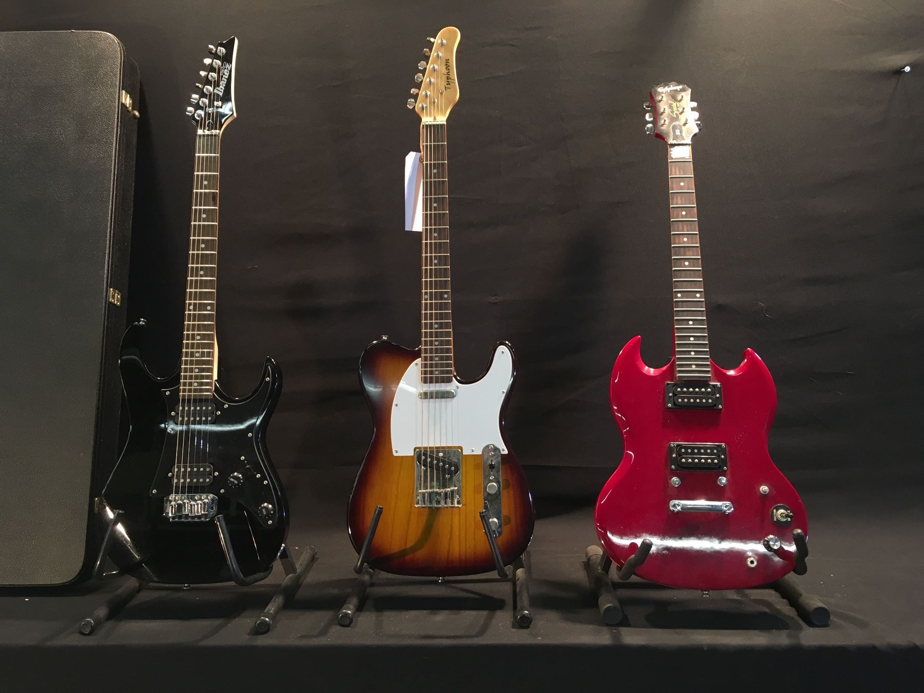 Ibanez Gio Electric Guitar Sg Great Installation Of Wiring Diagram Epiphone Special 3 Guitars Missing Bridge Typhoon Tele Style Rh Liveauctionworld Com Red Gax70