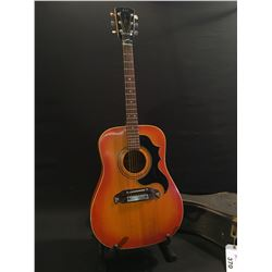 VINTAGE JMS (FRAMUS' EXPORT FOR POLAND) ACOUSTIC GUITAR, WITH V-NECK, ARCH BACK, MADE