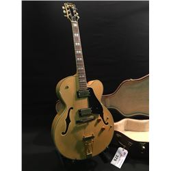 NORTHLAND GUITARS MRW HOLLOW BODY ACOUSTIC/ELECTRIC GUITAR WITH TWO PICKUPS AND TRAPEZE TAILPEICE,
