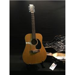 TARO MODEL 215-12 12 STRING ACOUSTIC GUITAR, MADE IN JAPAN, COMES WITH HARD SHELL CASE