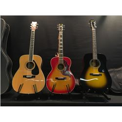 3 GUITARS: MANSFIELD MODEL 683 ACOUSTIC GUITAR, EPIPHONE MODEL DR 100 ACOUSTIC GUITAR WITH SOFT