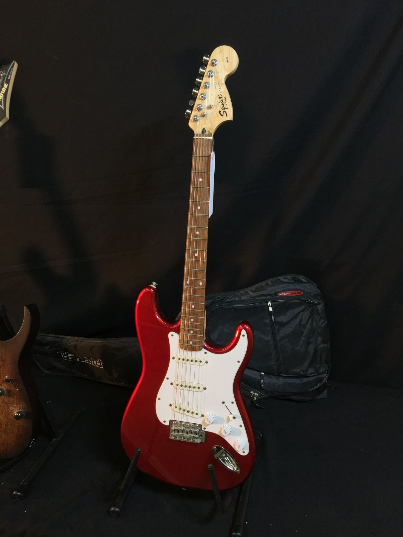 Great Ibanez Rg Wiring Big Ibanez Wiring Rectangular Dimarzio Switch Security Diagram Old One Humbucker One Volume BrightSolar Panel Wiring 3 GUITARS: HEAVILY STICKERED STRAT STYLE GUITAR, SQUIER STRAT, AND ..