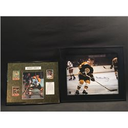 BOBBY ORR AUTOGRAPHED AND FRAMED PICTURE WITH CERTIFICATE OF AUTHENTICITY, AND FRAMED BOBBY