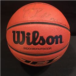 JASON KIDD AUTOGRAPHED BASKETBALL, WITH CERTIFICATE OF AUTHENTICITY AND DISPLAY CASE, SOME WEAR