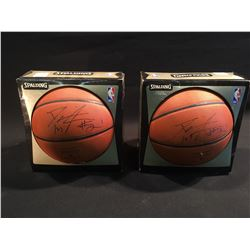TWO DARIUS MILES AUTOGRAPHED BASKETBALLS
