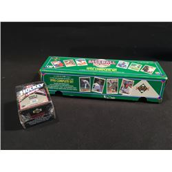 2 SETS: 1990-91 UPPER DECK HOCKEY HIGH SERIES FACTORY SET, 150 CARDS, IN ORIGINAL PACKAGING, AND