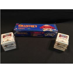 3 SETS: 1989 UPPER DECK FACTORY SEALED 800 CARD BASEBALL CARD SET, #1 IS KEN GRIFFEY JR. ROOKIE
