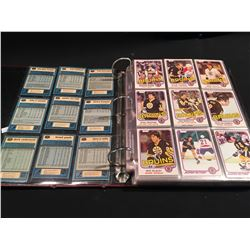 1981/82 O-PEE-CHEE HOCKEY 396 CARD SET, EX-MINT CONDITION, COMPLETE SET IN BINDER