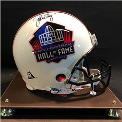 JOHN ELWAY AUTOGRAPHED AUTHENTIC PRO FOOTBALL HALL OF FAME HELMET, WITH DISPLAY CASE