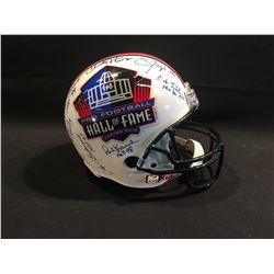 PRO FOOTBALL HALL OF FAME HELMET SIGNED BY 14 HALL OF FAME INDUCTEES OF VARIOUS YEARS