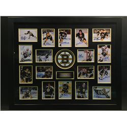 """AUTOGRAPHED """"BOSTON BRUINS GREAT PLAYERS"""" PHOTO COLLAGE, WITH CERTIFICATE OF AUTHENTICITY,"""