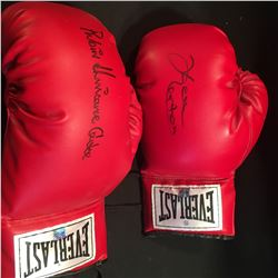"""2 AUTOGRAPHED BOXING GLOVES, SIGNED BY KEN NORTON AND RUBIN """"HURRICANE"""" CARTER"""