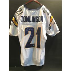 """LADAINIAN TOMLINSON AUTOGRAPHED AUTHENTIC SAN DIEGO CHARGERS JERSEY, """"2006 NFL MVP 31 TD'S, 2"""