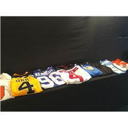 8 SPORTS JERSEYS INC. SEAHAWKS-96-KENNEDY, BOSTON BRUINS BOBBY ORR, BC LIONS-WILLIAMS-96, AND #9
