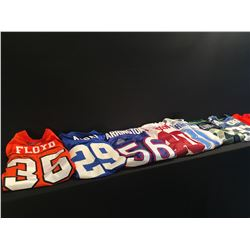 8 SPORTS JERSEYS INC. DETROIT LIONS-81-JOHNSON JERSEY, SEAHAWKS MARSHAWN LYNCH AND SHAUN ALEXANDER