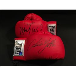 MICKY WARD AND ARTURO GATTI AUTOGRAPHED BOXING GLOVES, WITH AUTHENTICATED PICTURES OF SIGNING, IN