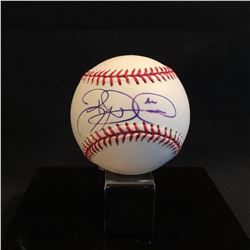 BRYCE HARPER AUTOGRAPHED BASEBALL IN DISPLAY CASE