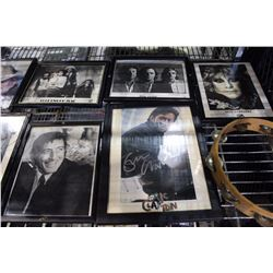 LOT OF ASSORTED ICONIC BAND AUTOGRAPHED POSTERS AND PROGRAMS, FRAMED AND UNFRAMED, INCLUDING PINK