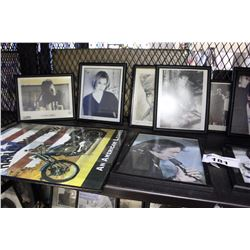 LOT OF ASSORTED MUSIC AND OTHER POP CULTURE PICTURES, SOME AUTOGRAPHED, FRAMED AND UNFRAMED