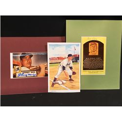 TWO AUTOGRAPHED BASEBALL PICTURES, JOHNNY MIZE PICTURE, AND MAX CAREY PICTURE, AS WELL AS MAX CAREY