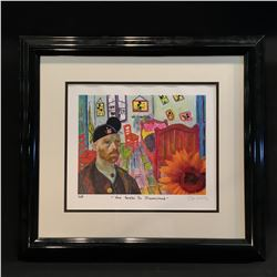 "FRAMED PRINT ""VAN GOGH'S TO DISNEYLAND"" SIGNED BY ARTIST ON BOTTOM RIGHT"