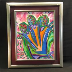 FRAMED ORIGNAL OIL ON CANVAS PAINTING BY JERRY WHITEHEAD, 1991, SIGNED LOWER LEFT