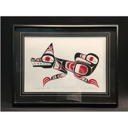 "FRAMED LIMITED EDITION PRINT, ""CHIEF DAN & AMY GEORGE MEMORIAL"" 2/10, 1995, SIGNED BY ARTIST LOWER"