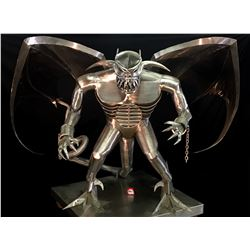 KEVIN STONE, MASSIVE HAND CRAFTED STAINLESS STEEL GARGOYLE, ONE OF A KIND, MADE IN CHILLIWACK,