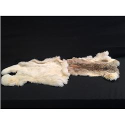 TWO SMALL ANIMAL PELTS, EXCELLENT CONDITION, EACH APPROX. 21'' LONG
