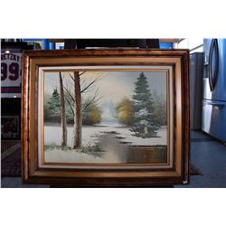 FRAMED OIL PAINTING - SIGNED PERRY