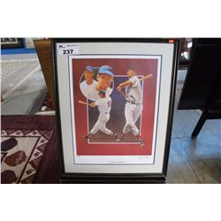 LIMITED EDITION FRAMED PRINT TITLED TED WILLIAMS