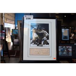 FRAMED AND AUTOGRAPHED JAKE LA MOTTA PHOTOGRAPH