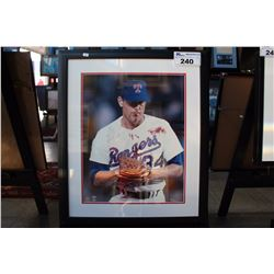 FRAMED AND AUTOGRAPHED NOLAN RYAN PHOTOGRAPH