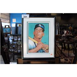 LIMITED EDITION MICKEY MANTLE AUTOGRAPHED FRAMED PRINT
