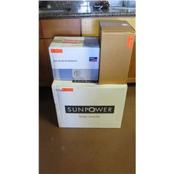 New Sunpower SPR 4000M Inverter, SMA DC-DISCONU-21 Disconnect, SPM-101-SPR Power Manager