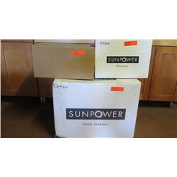 New Sunpower SB3000 Inverter, Sunpower SPR-DC-DISC-M-US Disconnect, SPM-101-SPR Power Manager