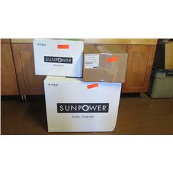 New Sunpower SPR 4000M Inverter, Sunpower SPR-DC-DISC-M-US Disconnect, SPM-101-SPR Power Manager