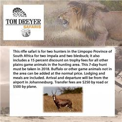 Tom Dreyer Safaris