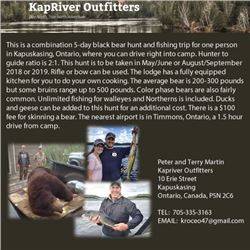 Kapriver Outfitters Bear