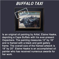 """BUFFALO TAXI"" IS AN ORIGINAL OIL PAINTING:"