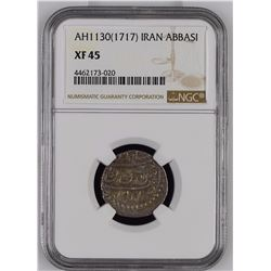 Iran Abbasi 1130/1717 NGC XF45 *ONLY 1 GRADED*