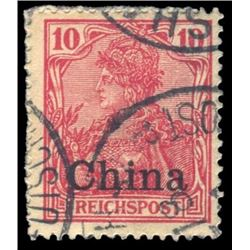 China 1901 10 Pfennig Scott # 26 Carmine PSE F70 German offices in China