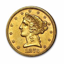 1873 $5 Liberty Head Half Eagle Gold Coin