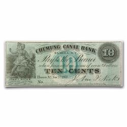 1862 Chemung Canal Bank 10 Cent Obsolete Bank Note