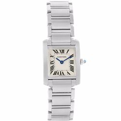 Cartier Tank Francaise Stainless Steel Ladies Wristwatch