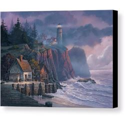Harbor Light Hideaway Print on Canvas