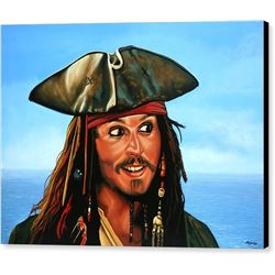 Captain Jack Sparrow Print on Canvas