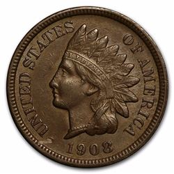 1908-S Indian Head One Cent Coin