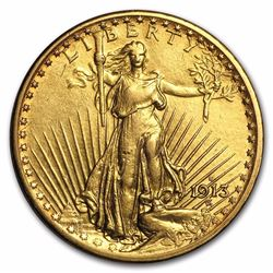1913-S $20 St Gaudens Double Eagle Gold Coin